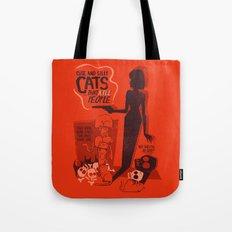 Cat Movie - orange Tote Bag