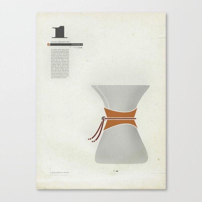 Coffee Contraption #1: Chemex Canvas Print