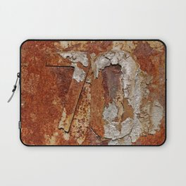Very old rusty metal wall surface Laptop Sleeve