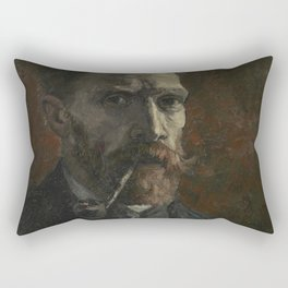 Self-Portrait with Pipe Rectangular Pillow