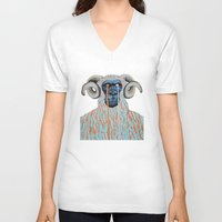 sweater V-neck T-shirts featuring Gorilla Sweater by Prince Pat
