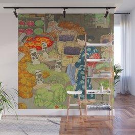 Honest Grocery Hiroshi Yoshida Vintage Japanese Woodblock Print Wall Mural
