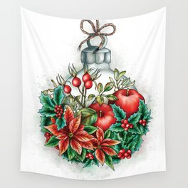 Christmas decoration illustration Wall Tapestry