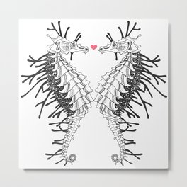 seahorse - Lovers Metal Print