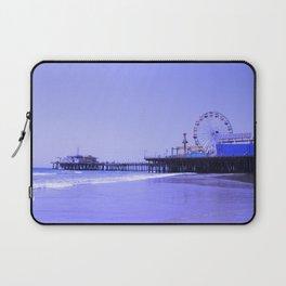 Purple Haze Santa Monica Pier Laptop Sleeve