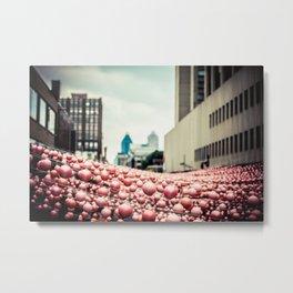 Pink In The Village Metal Print
