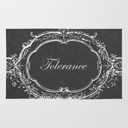 Tolerance Vintage Floral Chalkboard Rug