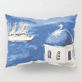 Santorini Greece Pillow Sham