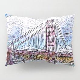 Golden Gate Bridge abstract Pillow Sham