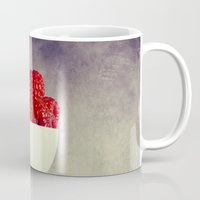 dessert Mugs featuring Raspberries for Dessert by Lawson Images