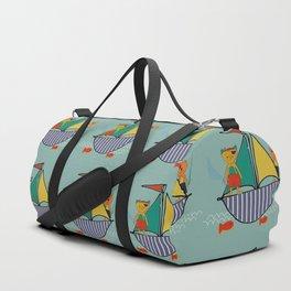Pirate Boat teal Duffle Bag