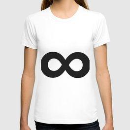 Infinity Symbol (Black & White) T-shirt