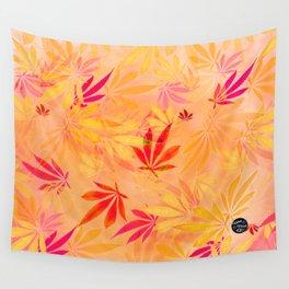 Citrus Cannabis Swirl Wall Tapestry