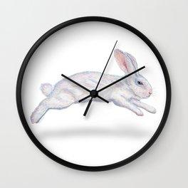 Fluffy White Bunny Wall Clock