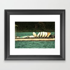 Boats on the Dock Framed Art Print