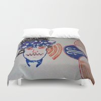 sonic Duvet Covers featuring Sonic Junkie by Just Joking Art