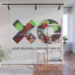 Love is a full contact sport Wall Mural