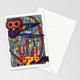 Owls Over The Stock Exchange Stationery Cards