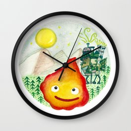 Howl's Moving Castle - Calcifer Wall Clock