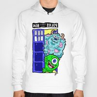 monsters inc Hoodies featuring Monsters in Time and Space! Doctor Who Meets Monsters Inc. University by beetoons