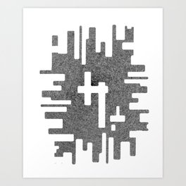 Digital Splash Art Print