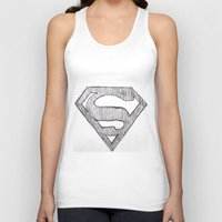 superman Tank Tops featuring Superman by Frances Roughton