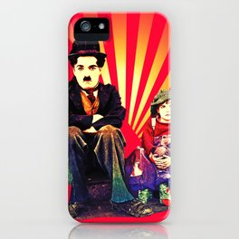 The Tramp and the Kid iPhone Case