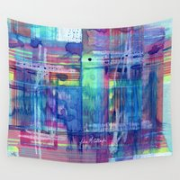 plaid Wall Tapestries featuring Plaid by Julie M Studios
