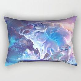 Alolan Ninetales  and Vulpix Rectangular Pillow