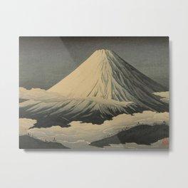Shotei Takahashi Four Seasons of Mount Fuji Near Omuro Kawase Hasui Japanese Woodblock Print Metal Print