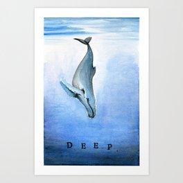 Deep - Whale 21 Art Print