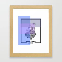Robot Town color Framed Art Print