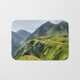 Mountains, green, gigantic, steep and rolling Bath Mat