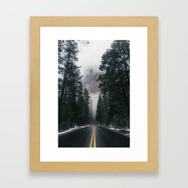 Forest Way Framed Art Print