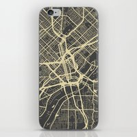 dallas iPhone & iPod Skins featuring Dallas map by Map Map Maps