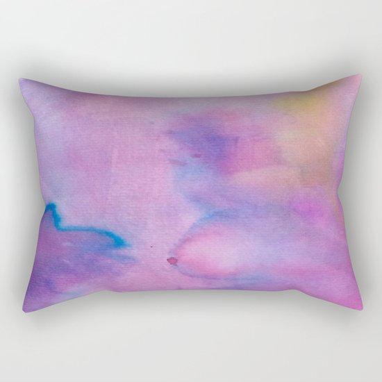 Purple Watercolour Rectangular Pillow