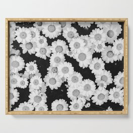 The Daisy Garden (Black and White) Serving Tray
