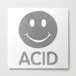ACID HOUSE SMILEY Metal Print