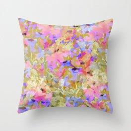 Fancy Field Flowers Throw Pillow