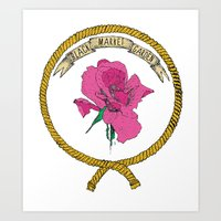 Black Market Garden - Ropes and Roses - Colour Art Print