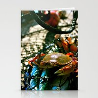 crab Stationery Cards featuring Crab by Kali Malone