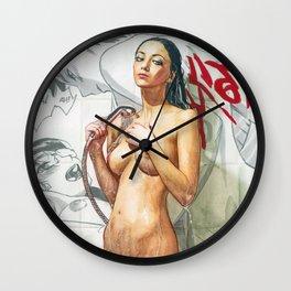 Sexy Beautiful Naked Girl Taking a Shower Nude Girl Erotic Art Wall Clock