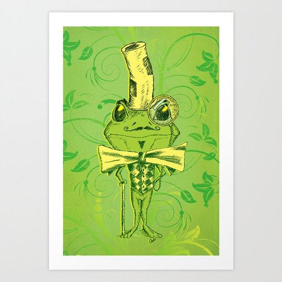 Je suis Monsieur Grenouille Art Print