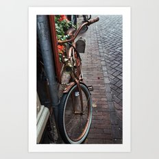 Bronze Bicycle Art Print