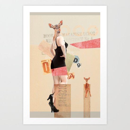 Dear Deer Girl Art Print