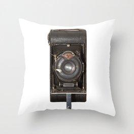 old bellows vintage camera Throw Pillow