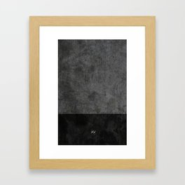Dark luxury concrete  Framed Art Print