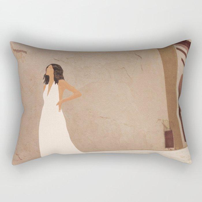 New White Dress II Rectangular Pillow