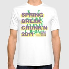 Spring Break Crunk'n 2011! MEDIUM White Mens Fitted Tee