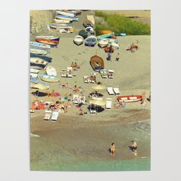 Furore bay, Italy Poster